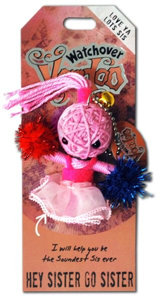 Watchover+VooDoo+String+Doll+Keychain+-+Hey+Sister+Go+Sister
