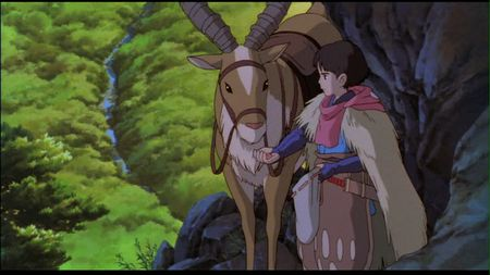 "Ashitaka feeds his red elk Yakul - ""Princess Mononoke ..."