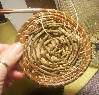 vine weaving pine straw basket