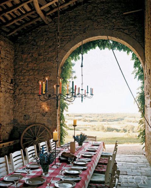 outdoor dining...