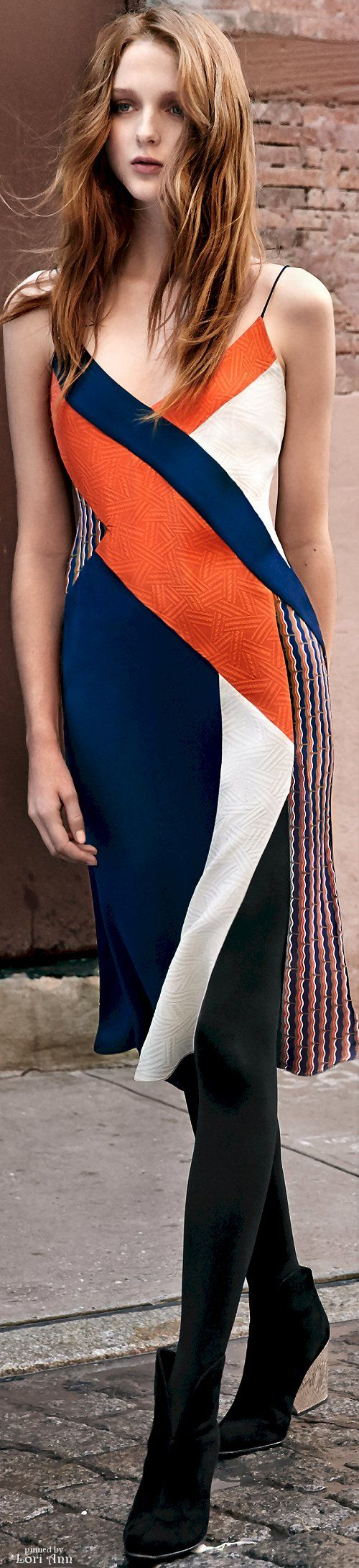 Diane von Furstenberg Pre-Fall 2016 women fashion outfit clothing style apparel @roressclothes closet ideas