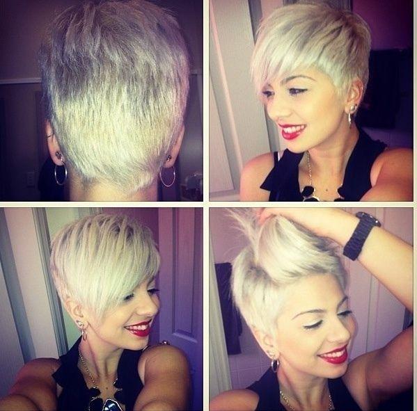 !!!!! zie vorige zelfde idee....zowel bangs als  kuif mogelijk !  <3 Asymmetric Short Hairstyles: Side, Back View