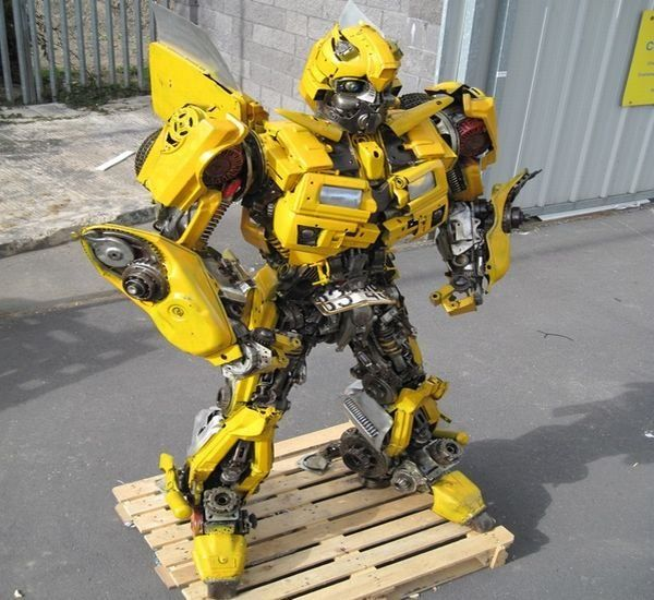 Take One Camaro, Recycle, and You Get a Life-size Bumblebee Transformer