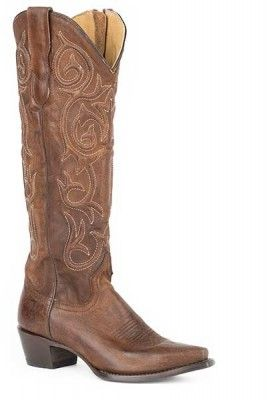 Stetson Ladies Blair Over The Knee Snip Toe Cowgirl Boots - Brown, just one of the great products from our large selection here at HorseLoverZ. Brown Vamp. 17 Shaft