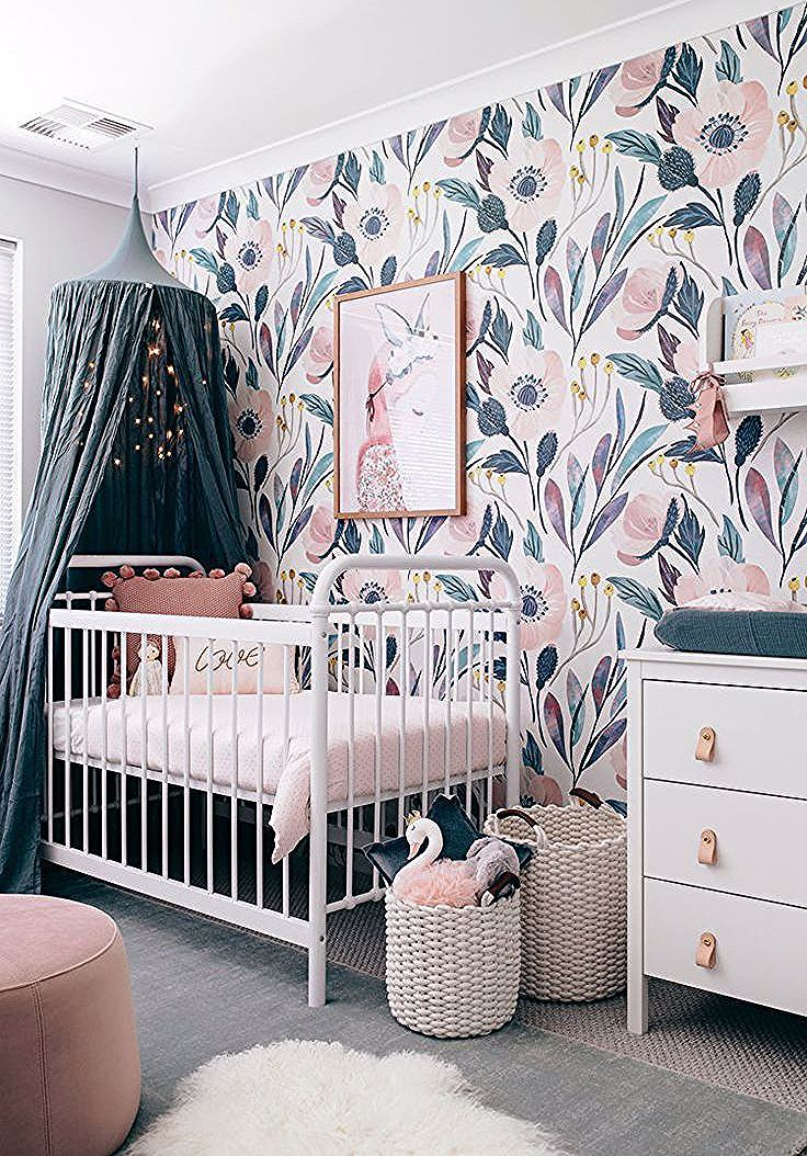 Moody Floral Wallpaper Photography Interior Design Tarina Wood Oh Eight Oh Nine Kids Room Wallpaper Removable Wallpaper Nursery Home Decor Near Me