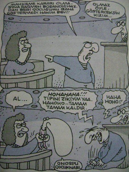 En çok güldüğüm mahkeme karikatürü :D