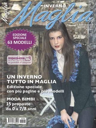 MAGLIA  MAGLIA is a quarterly magazine with 40/45 women's knitted-fashion proposals, with services also dedicated to younger ladies and to children. It also includes classic models for all ages and sizes (including XL), to be knitted with irons and crochet according to various techniques.  MAGLIA contains complete explanations for the proposals presented in each issue number, including processing and diagrams, besides tips for choosing the most appropriate yarn for each model. The release…