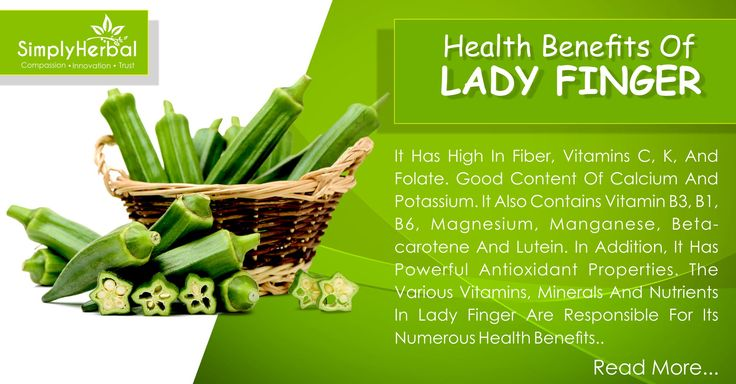 #Benefits of Lady Finger Help #WeightLoss Heart #disease Improves #digestion Conception and #pregnancy Improves #immunity Help prevent #anemia Prevention of colon #cancer Improves #eyesight #Help in reducing #cholesterol Controls blood sugar levels #Nutrients in #Ladyfinger: Dietary fiber (9 % ), #Folate, Pyridoxine, Thiamine, #Vitamin C, Vitamin A, Vitamin K, Copper, Calcium, Potassium, #Iron, Magnesium, Manganese, Zinc & Phosphorus Overall #HealthTips Click Here: www.simplyherbal.in