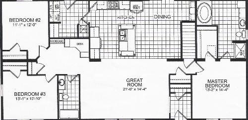 30 X 60 House Plans | Titan Modular Model 847; Moore's Homes | Ideas for the House | Open floor ...