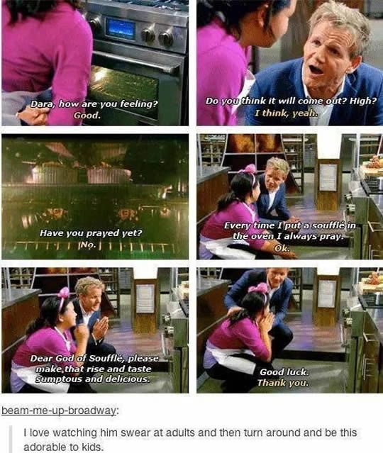 #2 The adorable side of Gorden Ramsay.
