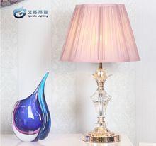 Европейской роскоши теплый домашняя атмосфера ночники из светодиодов кристаллический фиолетовый спальня лампа современный минималистский настольная лампа