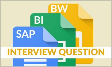 Most popular SAP BI/BW Technical Interview Questions with examples of the best Answers for each question and tips for various SAP BI/BW Interviews in Top Companies.