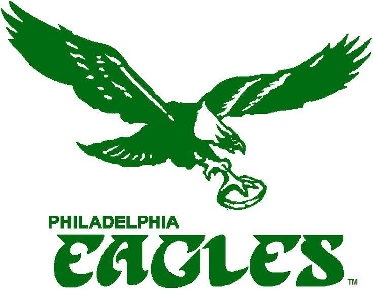Philadelphia Eagles Alternate Logo (1973) - Flying eagle holding football in green above script