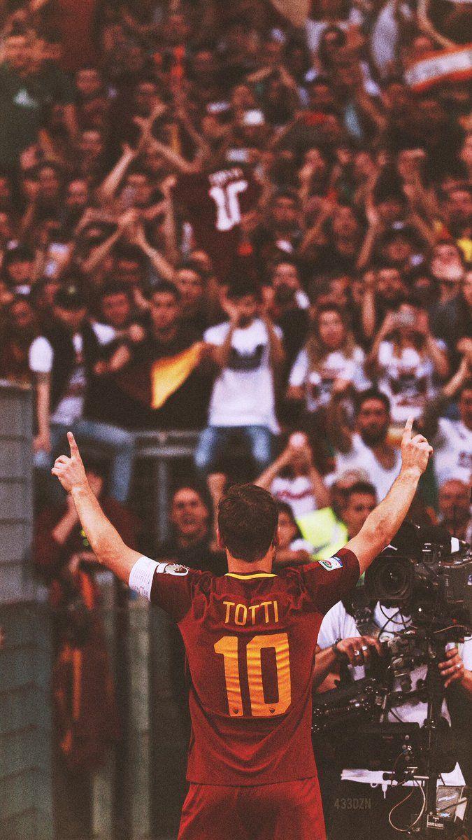 Francesco Totti.  433 (@433DZN) | Twitter  Roma, Serie A, Calcio, fútbol, football.