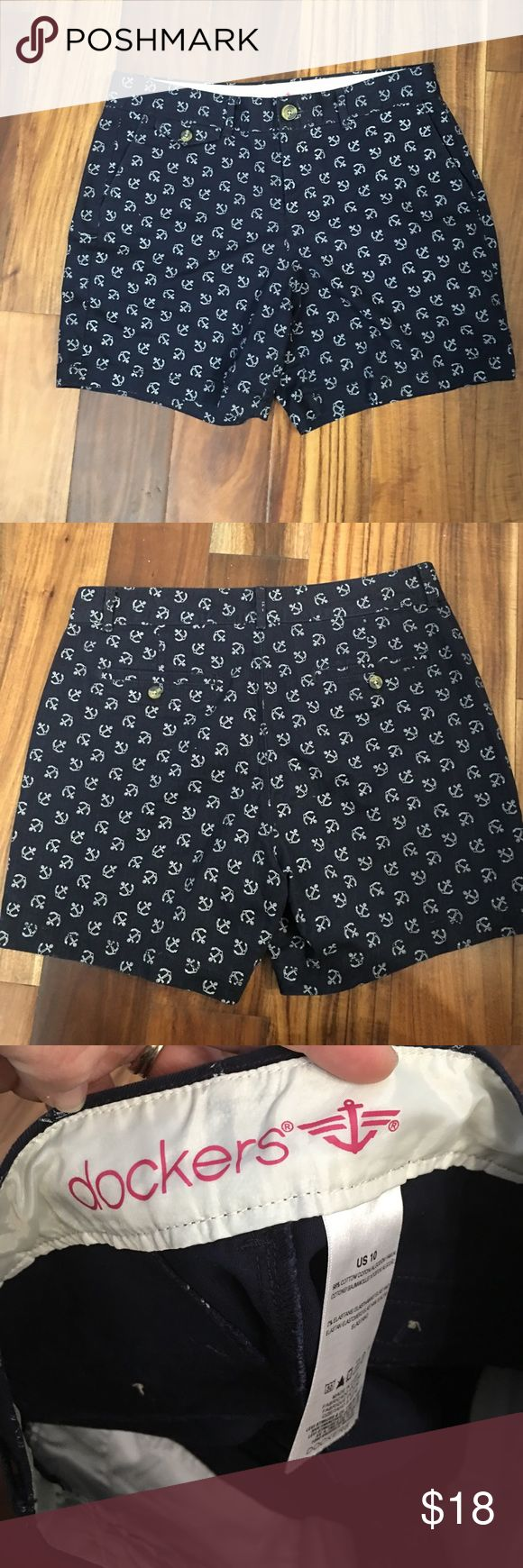 Docker  anchor shorts Great condition no tears or stains Dockers Shorts