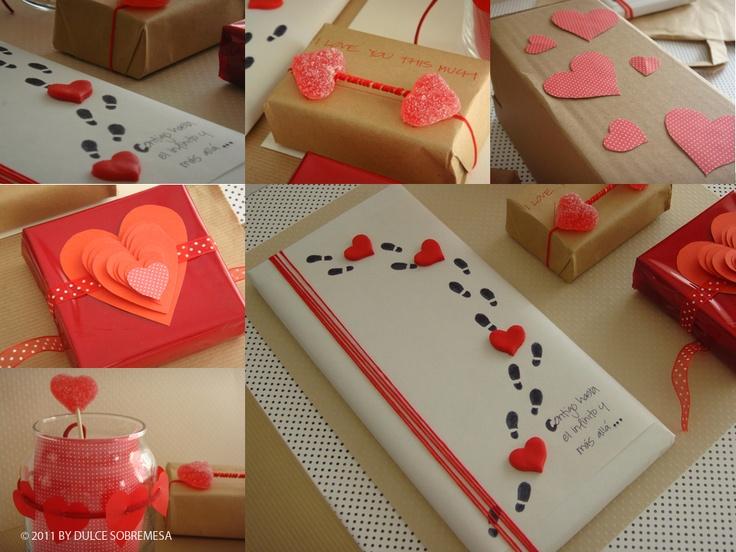 románticos envoltorios y tarjetas de San Valentin