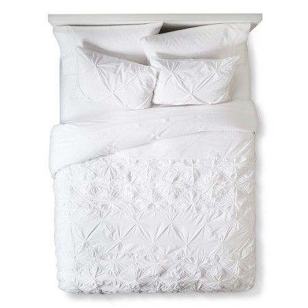 Texture Duvet Cover Set King White - Boho Boutique™ : Target