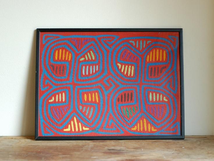 Vintage Indian Mola Tapestry