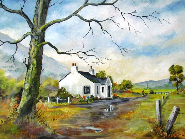 """""""The Old Coach House"""" Acrylic painting"""