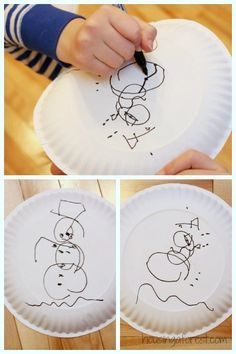 Snowman Drawing Game. Could be done at a Christmas Party or as part of a Frozen themed birthday party (ie. drawing Olaf).