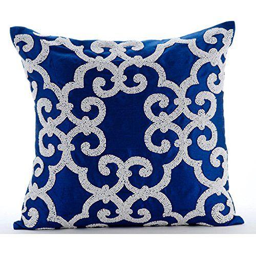 Designer Blue Accent Cushions, Arabic Pattern Beaded Cush... https://www.amazon.co.uk/dp/B00VDDLBUQ/ref=cm_sw_r_pi_dp_x_tG0Gyb89H6RZP