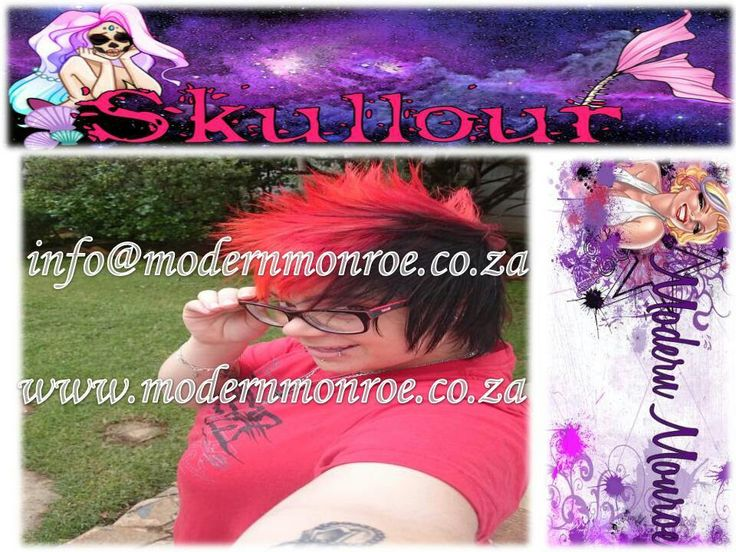 Orange and red hot Skullour hair dye. Skullour is a vegan friendly, cruelty free product that delivers long lasting beautiful results. For more info http://www.modernmonroe.co.za/index.php/online-shop/category/view/2
