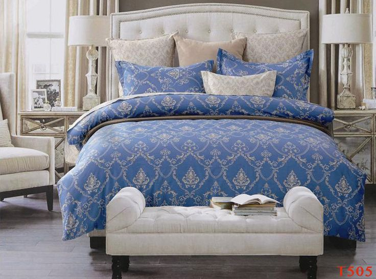 T505 Queen/King Size Bed Quilt/Doona/Duvet Cover Pillowcases Set New Cotton