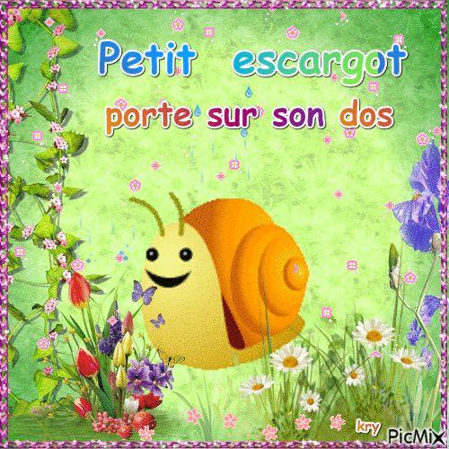 17 best ideas about petit escargot on pinterest jeux de - Petit escargot porte sur son dos paroles ...
