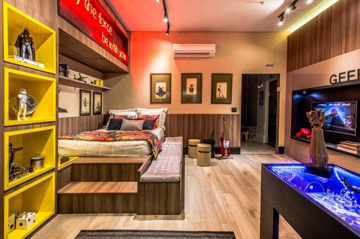 Um quarto muito geek e aconchegante!
