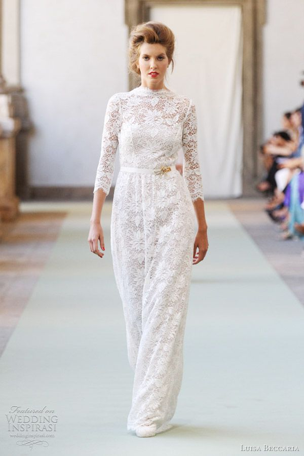 luisa beccaria lace dress spring 2012