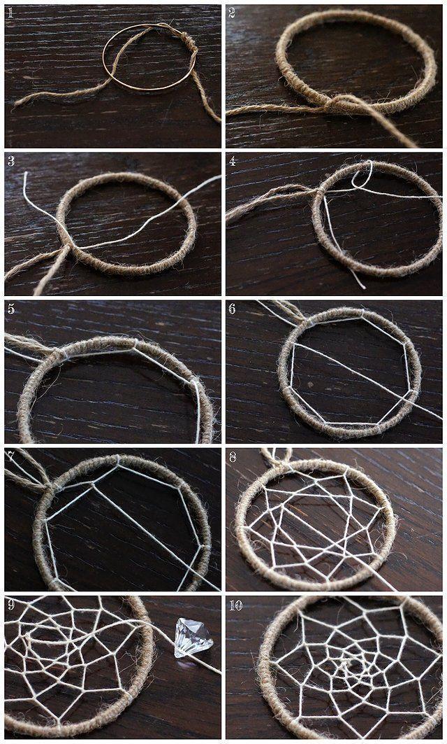 Wie man einen Traumfänger macht und wie man Threads dehnt – #a # Threads #mac …   – DIY
