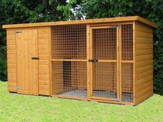 designs for big dog houses | Dog Kennel and Run - Dog kennel and run, cat kennels and cat runs for ...