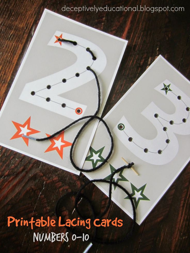 Printable Lacing Cards: Numbers 0-10 | Relentlessly Fun, Deceptively Educational | Bloglovin'