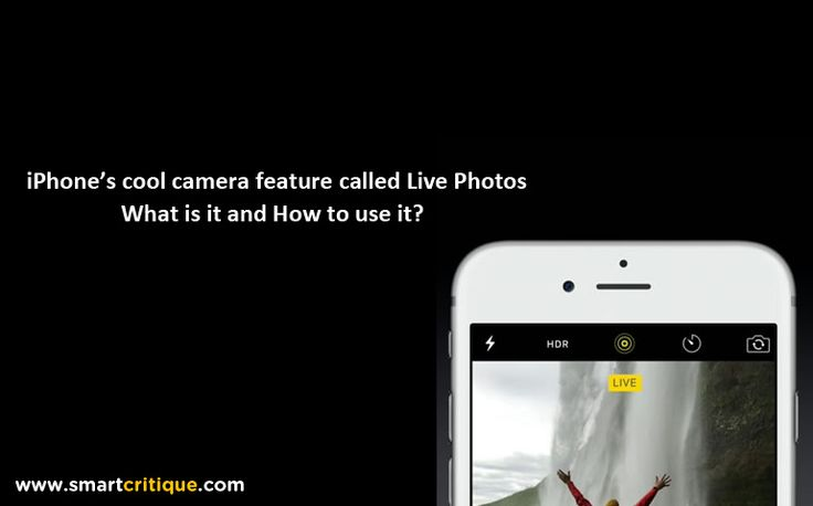 iPhone's Live Photos feature gives life to photos.iPhones are known for their superior quality and performance. This time around it has come up with Live P
