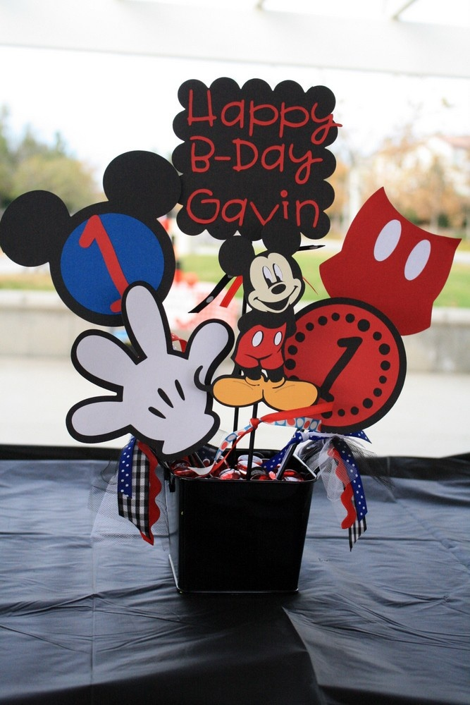Mickey Mouse Character Party Bucket/ Centerpiece Custom Party or Room Decor Carnival or any other Theme. $29.99, via Etsy.