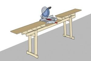 Folding chopsaw table
