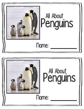 A simple 5 page emergent reader about Penguins! I used real images of penguins, it was more interesting to my children.  This download includes the reader in three different formats. - Reader - Trace  - Fill in the Blank  Enjoy!