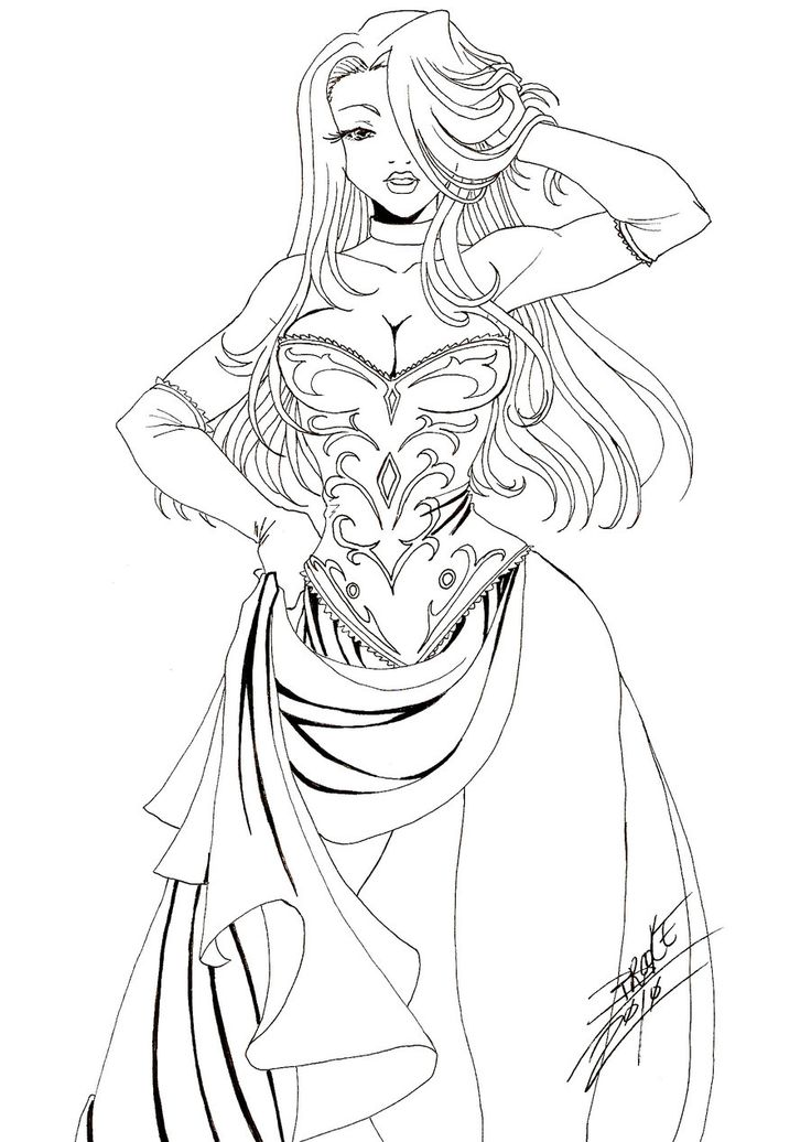 simple lineart commission of s oc the lovely temptress serenade hope you like it darlin sorry it took me a bit longer to do - Simple Therapeutic Coloring Pages
