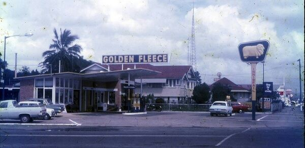 Golden Fleece service station at Innisfail, Queensland, Australia ca.1972 v@e.