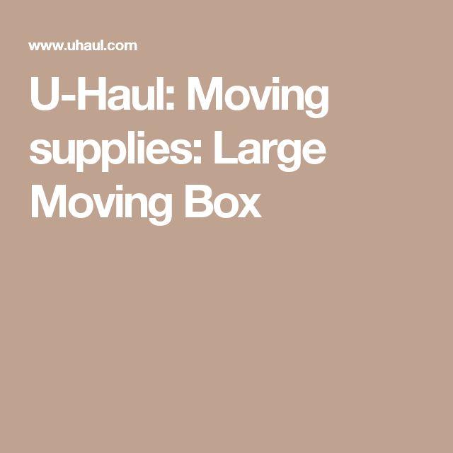 U-Haul: Moving supplies: Large Moving Box