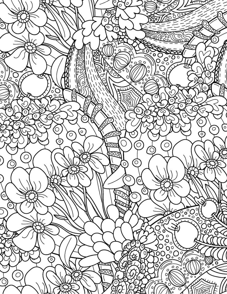 Take Time To Color The Flowers Coloring Book