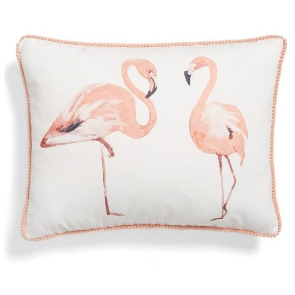 Levtex Flamingo Accent Pillow ($39) ❤ liked on Polyvore featuring home, home decor, throw pillows, tropical home decor, feather throw pillows, flamingo home decor, tropical throw pillows and flamingo throw pillow