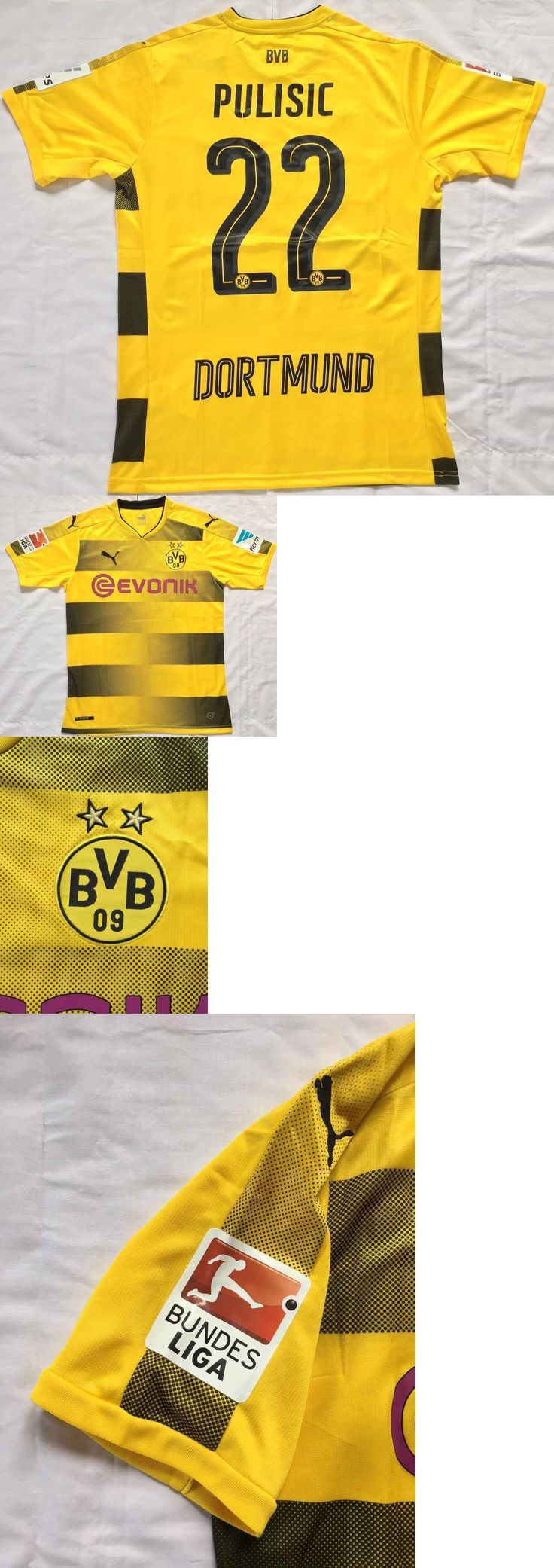 Soccer-International Clubs 2887: Borussia Dortmund Fc 17 18 Season Christian Pulisic Mens Stadium Jersey S To 2Xl -> BUY IT NOW ONLY: $49.95 on eBay!