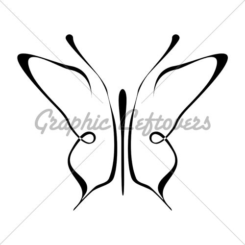 Line Drawing Butterfly Tattoo : Ideas about simple butterfly tattoo on pinterest