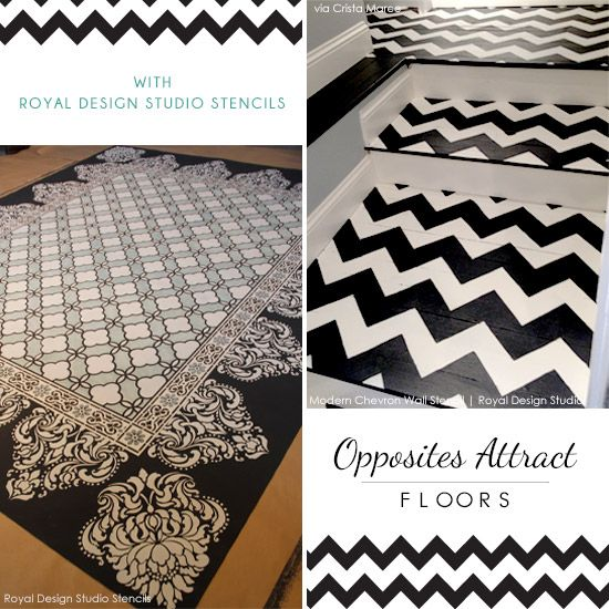 Stencil Ideas for a Black and White Floor | Royal Design Studio