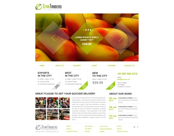 Star Traders - A New website designed for one of our client who does export business.