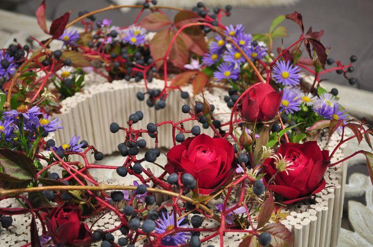 Wedding inspiration. FLORYSTYKA KIELCE  FLOWERS , KWIATY WE FLORYSTYCE. Jesień przeniesiona z ogrodu do domu.
