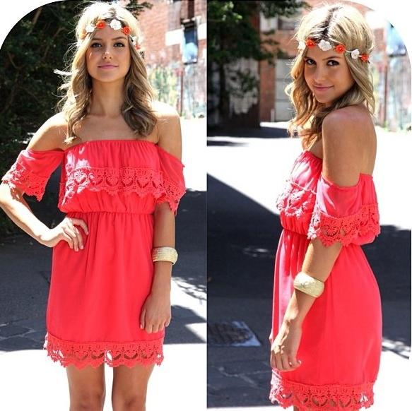 Coral summer dress | Cute summer dresses | Pinterest | Summer ...