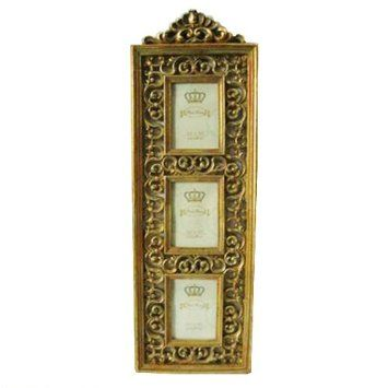 Vintage Look Shabby Chic Gold Multi Photo Frame: Amazon.co.uk: Kitchen & Home