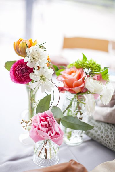 airy centerpiece | Jen and Chris Creed #wedding